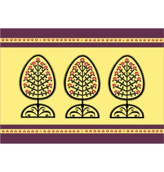 Folk tree vector