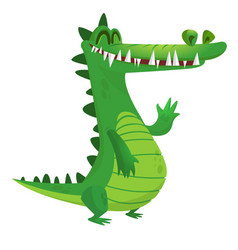 Funny cartoon crocodile vector
