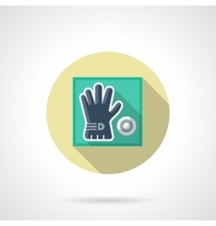 Golf glove flat round icon vector
