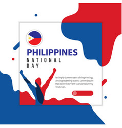 Happy philippines national day template design vector