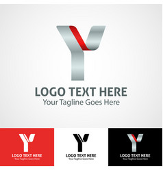 hi-tech trendy initial icon logo y vector image