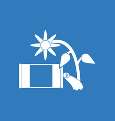 Icon canned and flower vector