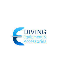 icon for diving shop vector image