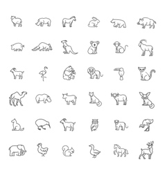 icons Zoo Animals vector image