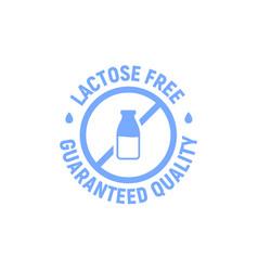 lactose gluten free dairy icon milk dietary vector image