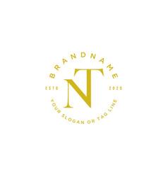 Letter nt logo design vector