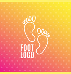 Logo of center of healthy feet human footprint vector