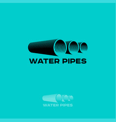Logo water pipe vector