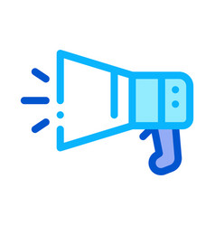 loudspeaker tool icon outline vector image