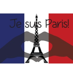 Love Paris Eiffel Tower symbol vector image