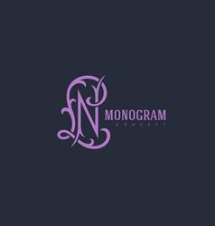 luxury monogram nl vector image