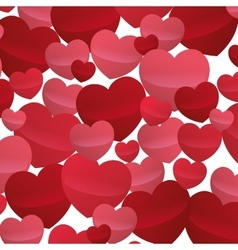 many hearts love decoartive valentine day design vector image