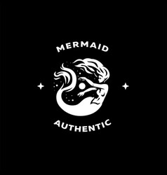 mermaid woman with a fish tail vector image