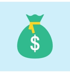 Money Bag Flat Icon vector image