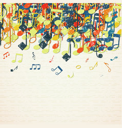 Musical theme background vector