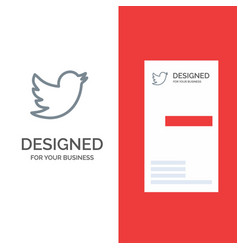 Network social twitter grey logo design and vector