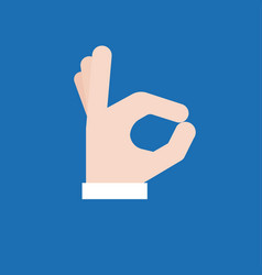 okay hand sign icon vector image