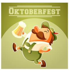 Oktoberfest beer festival banner vector