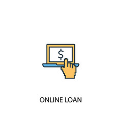 online loan concept 2 colored icon simple blue vector image