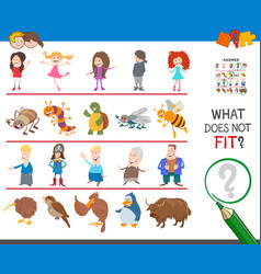 Picture that not fit in row educational game vector