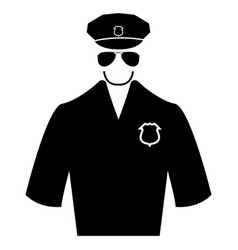 Police black color icon vector
