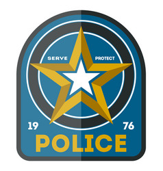 Police officer symbol icon vector