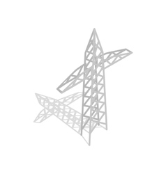 Power transmission tower icon isometric 3d style vector