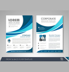 Presentation flyer concept vector
