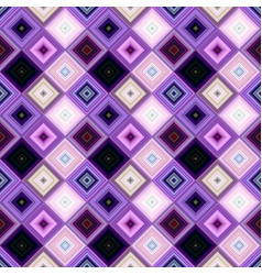 purple abstract repeating diagonal square pattern vector image