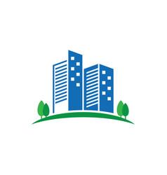 real estate logo concept vector image