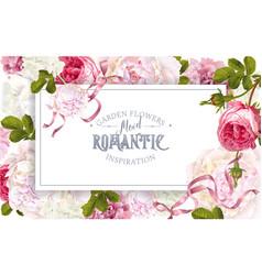 Romantic garden frame vector