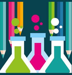 school supplies concept vector image