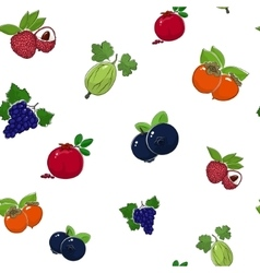 Seamless Pattern of Sweet Fruits vector image