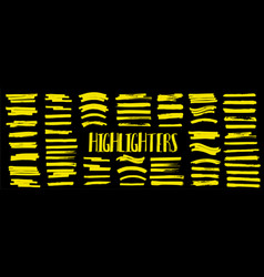 set highlighters vector image