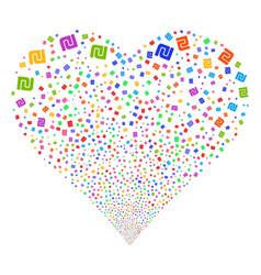 shekel fireworks heart vector image