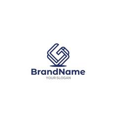 Simple initial g logo design vector
