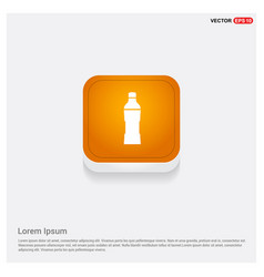 Soda drink bottle icon orange abstract web button vector