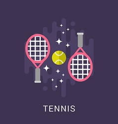 Sport Concept Tennis Flat Style vector image
