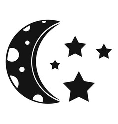 Starry night icon simple style vector