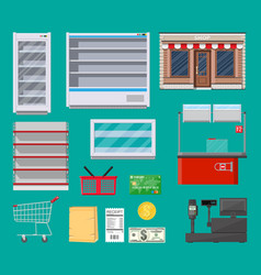 supermarket items set vector image