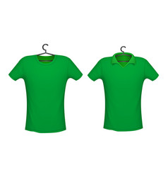 T-shirt and polo green color vector