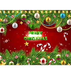 traditional christmas background vector image