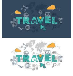travel website banner design concept vector image