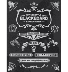Vintage chalkboard design elements vector