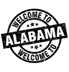 Welcome to alabama black stamp vector