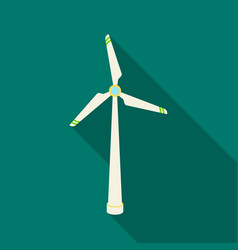 wind energy turbine icon in outline style isolated vector image