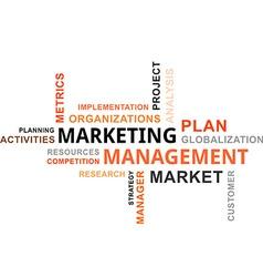 word cloud marketing management vector image