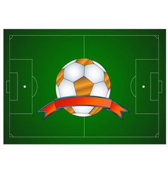 Ball icon in the field vector image vector image