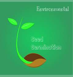 seeds are germinating environmental symbol vector image vector image