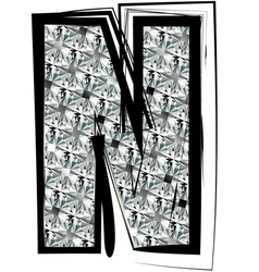 Diamond Font letter N vector image vector image